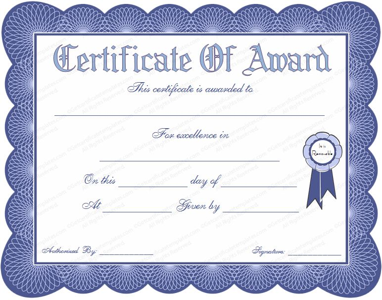 pics photos award certificates templates free word fc0s0nre. award ...