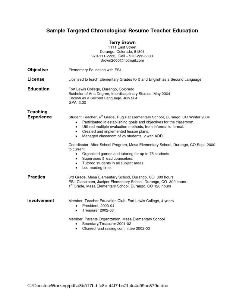 Resume Examples Objective Statement For A Example Of Intended 17 ...