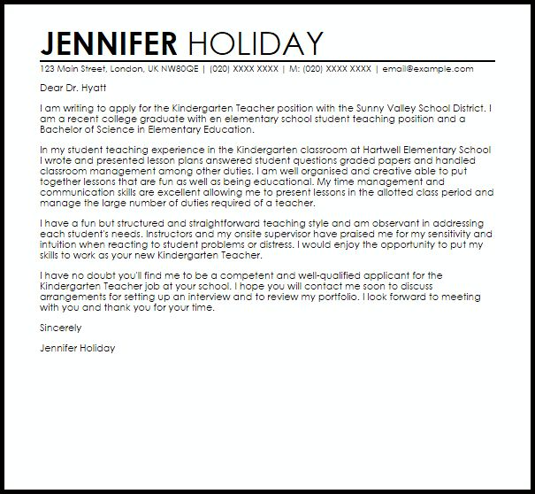 elementary education cover letter samples with teacher cover ...
