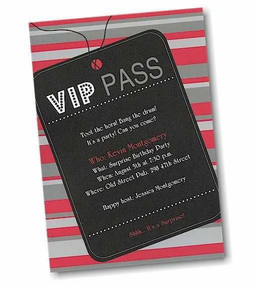 Vip Party Invitations - cloveranddot.Com