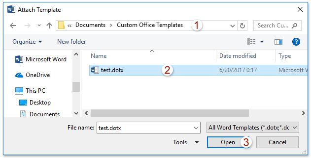 How to apply a Word Template to an existing Word document?