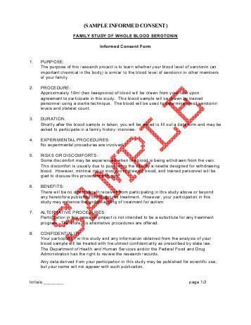 appendix d — example informed consent form - University of ...
