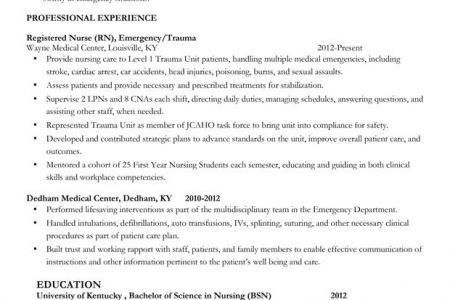 Stroke Nurse Resume - Reentrycorps