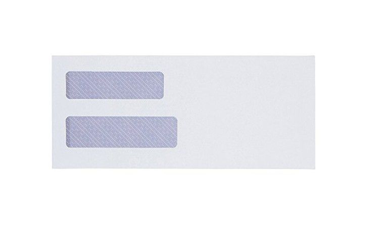 Single / Double Window Security Tinted Dl Offset Paper #10 White ...