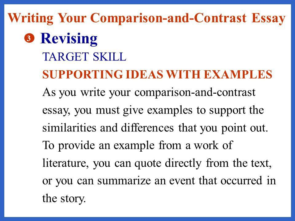english essay writing compare and contrast