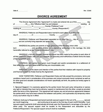 Divorce Agreement | Create a Free Divorce Agreement | Legal Templates