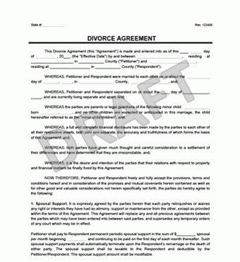 Divorce Agreement | Create a Free Divorce Agreement | Legal Templates