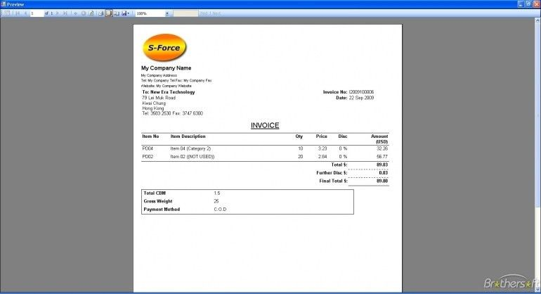 Download Simple Invoice Software | Design Invoice Template