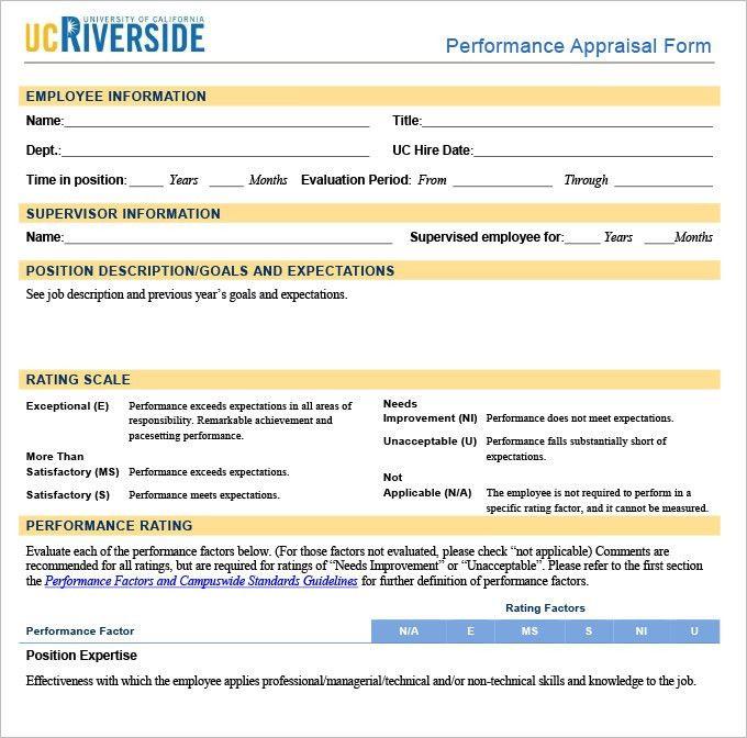 8+ HR Appraisal Forms | HR Templates | Free & Premium Templates ...
