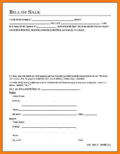 10+ general bill of sale form | letter format for