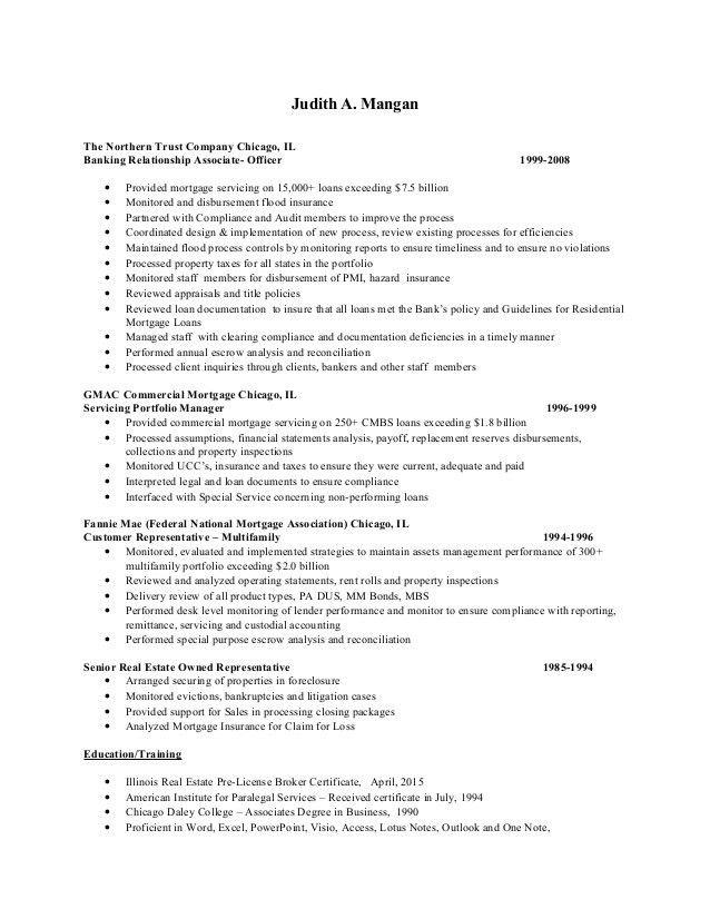 Judith A Mangan resume