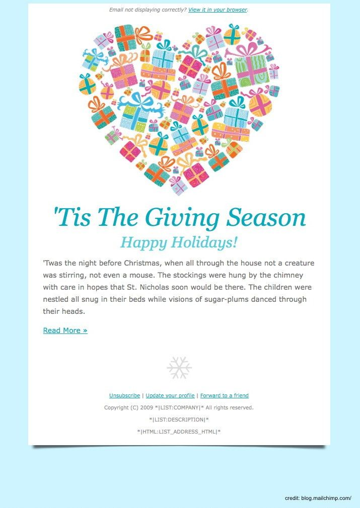 Finding The Right Holiday Greetings Email Template - Mailbird