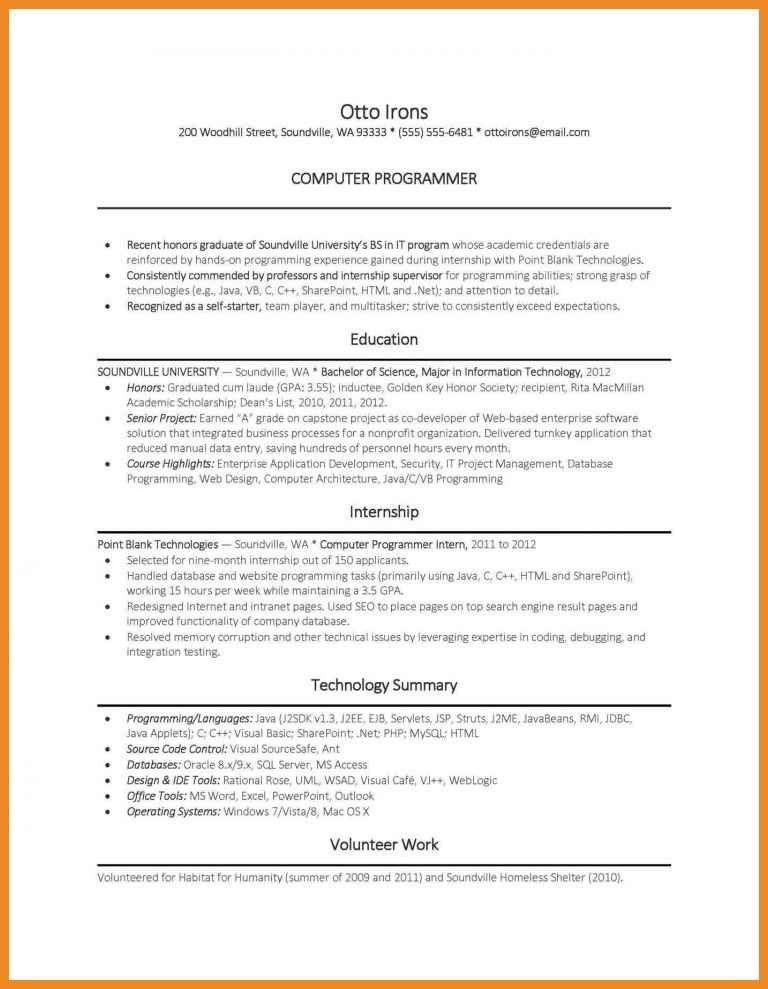 computer programmer resume | art resume examples