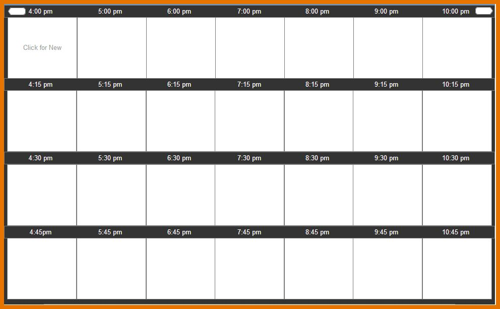 5+ day schedule template | Itinerary Template Sample