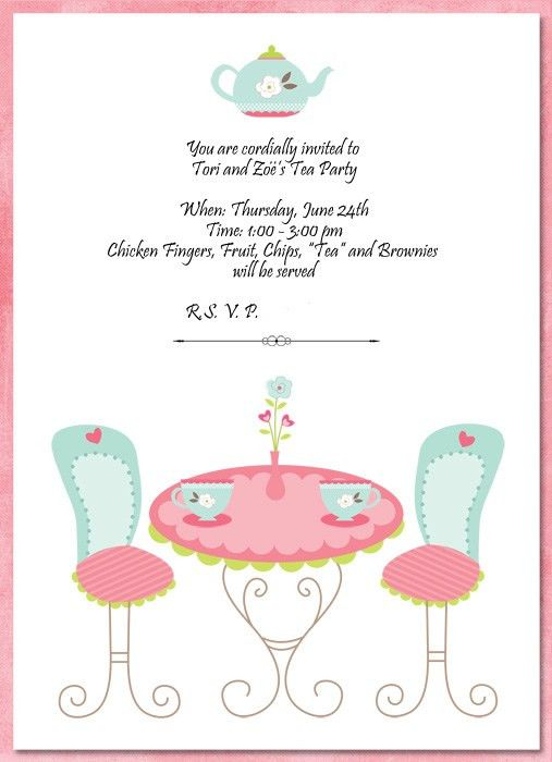 Tea Party Invitation Template - dhavalthakur.Com