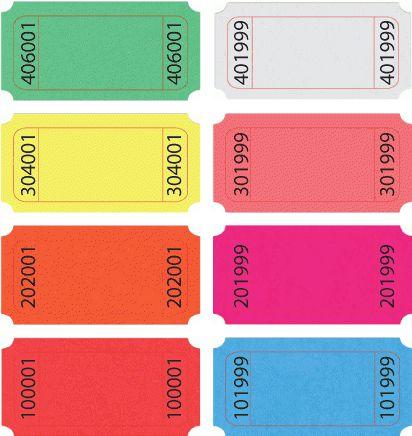 Standard Blank Roll Ticket | US-TICKET.COM