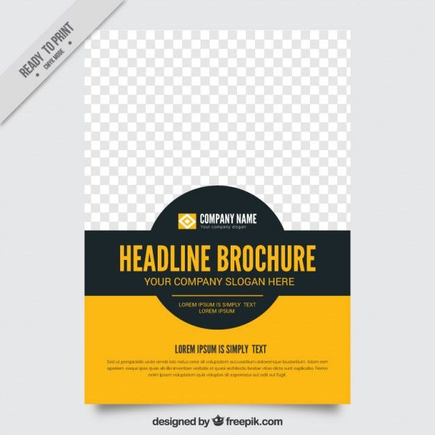 Simple brochure template Vector | Free Download