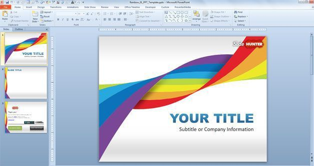 Free Rainbow DNA PowerPoint Template - Free PowerPoint Templates ...