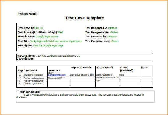 13+ test case template | academic resume template