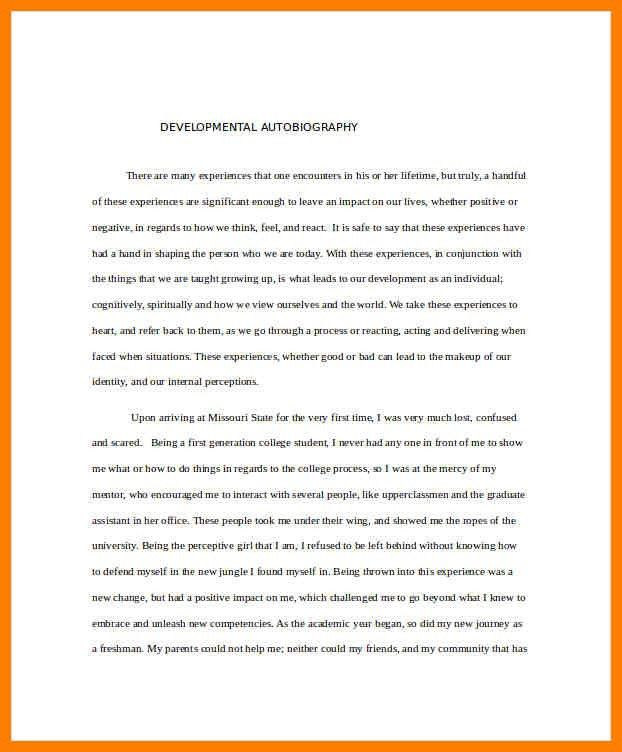 10+ example of an autobiography | lease template