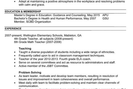 School Counselor Resume Objective - Reentrycorps