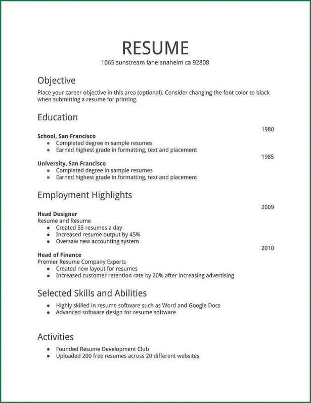 Cover Letter : Resume Examples Blank Resume Template Word Foodporn ...