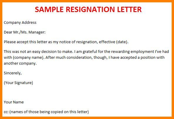 formal letter sample sample letter of resignation 47t6nff7. vast ...