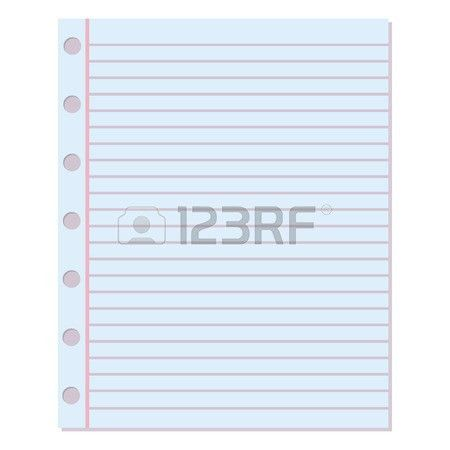 Notebook Paper Background. Blank Education Design Notepad Empty ...