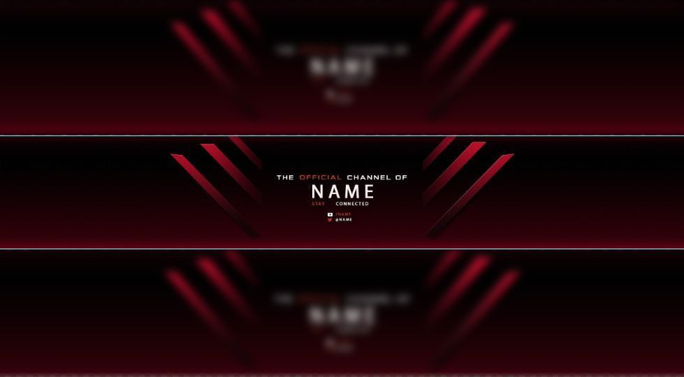RED Free Youtube Banner Templates | Maxence - Sellfy.com