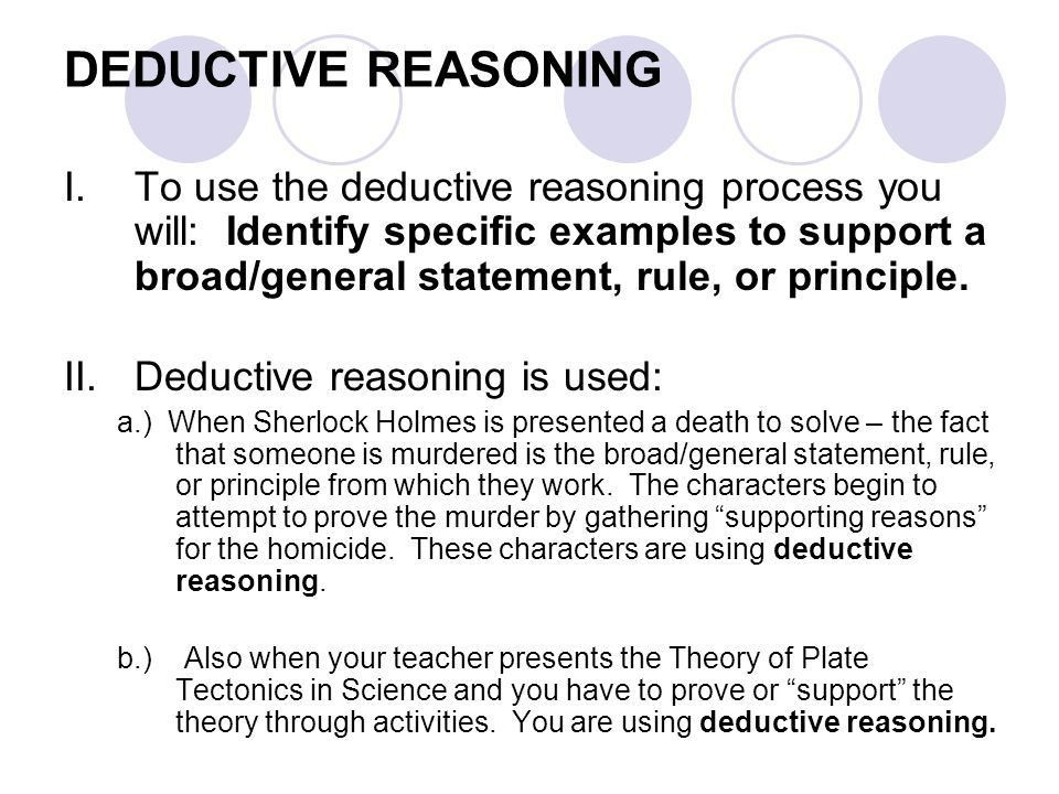 Deductive and Inductive Reasoning - ppt download