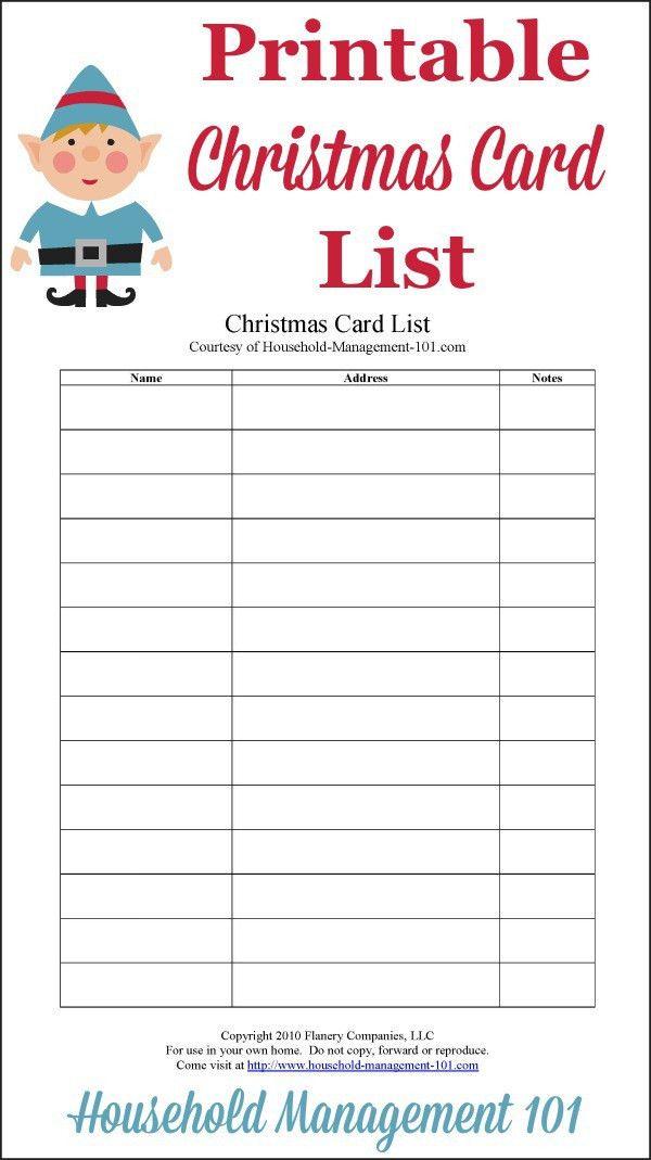 Christmas Gift List Printable: Use It To Help Create Your ...