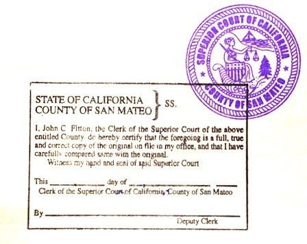 Divorce Decree — California Apostille