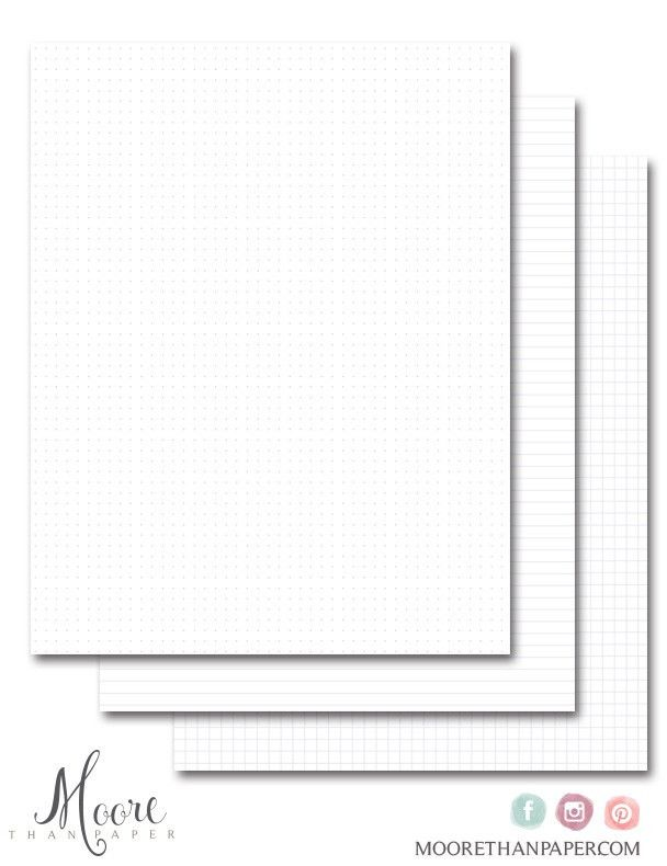 Download To Print Your Own Grid, Dot and Lined Papers