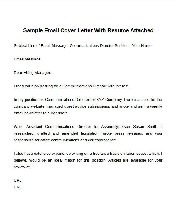 email resume examples examples of resumes email cover letter cover ...