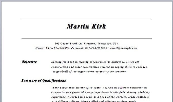 Free Resume Builder Templates. Resume Builder Download Free Resume ...