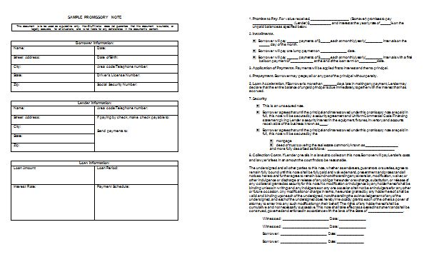 Promissory Note Template - Templates for Microsoft® Word