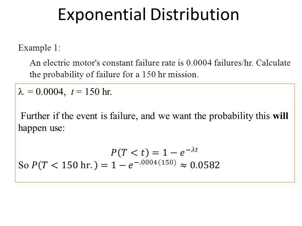 Exponential Distribution (Chapter 14) M.I.G. McEachern High School ...