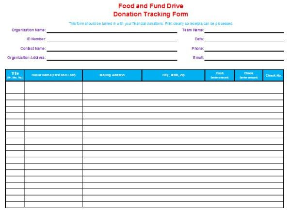15+ Donation Tracker Templates - Free Word, Excel, PDF