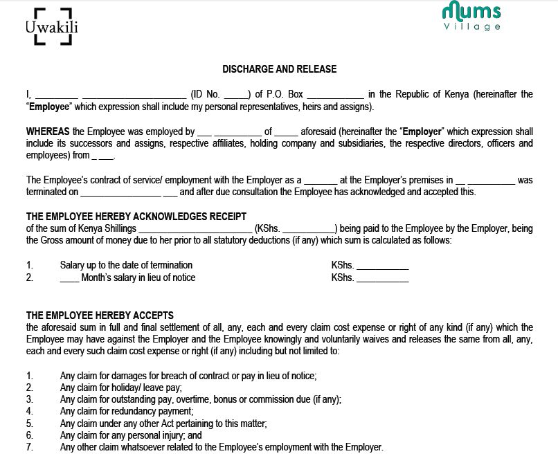 Sample Nanny Employment Contract - MumsVillage : MumsVillage