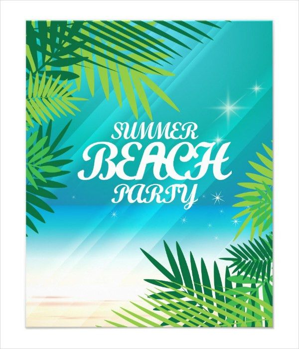 25+ Beach Party Flyer Templates - Free & Premium Download