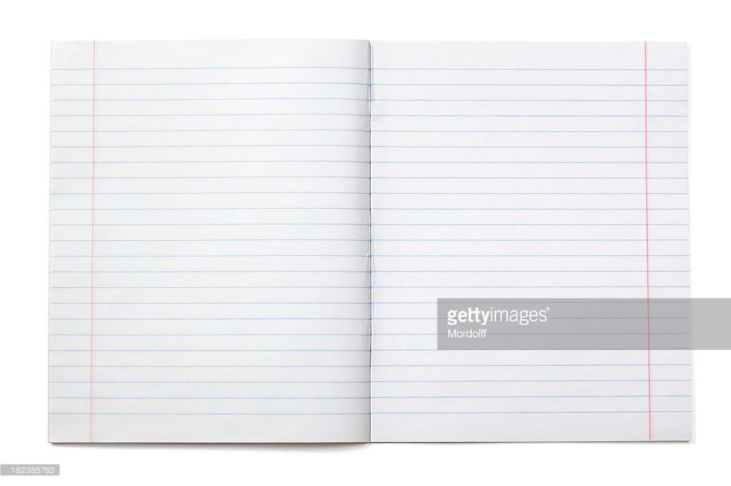 Writing Notebook With Lined Paper Stock Photo | Getty Images