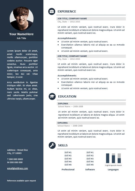 free professional cv template - Template