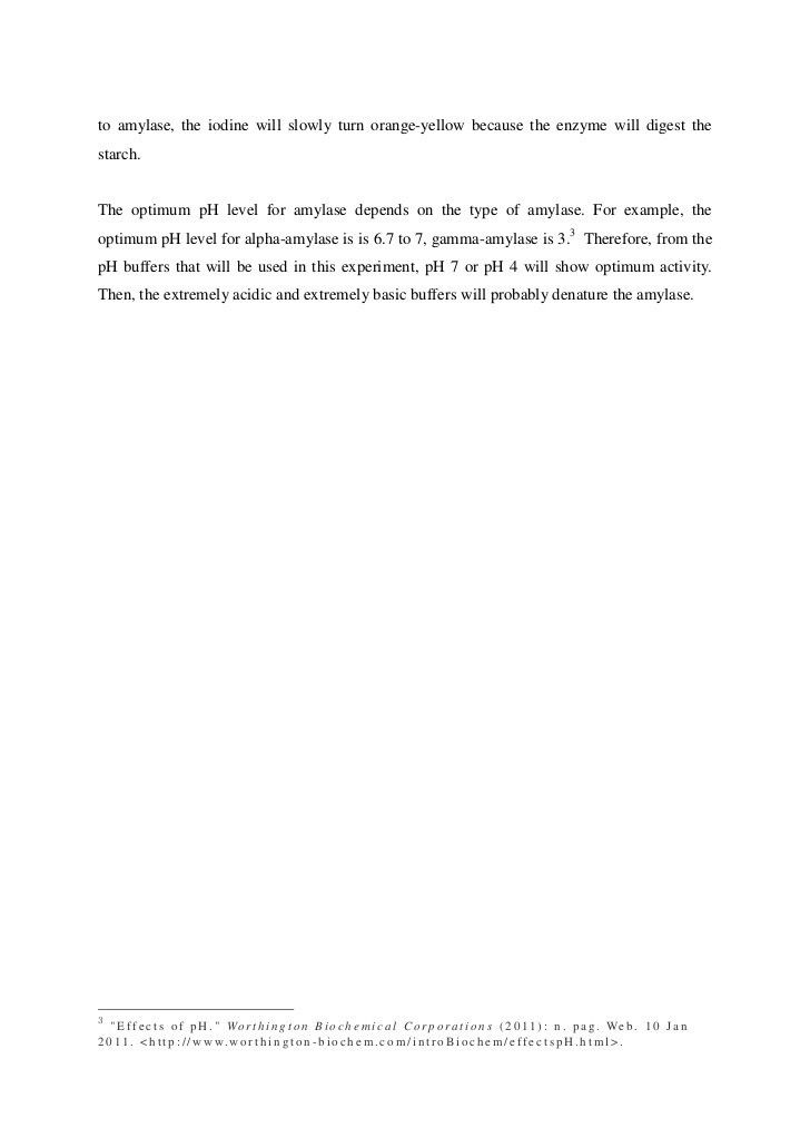 IB Biology on Hydrolysis of starch by enzyme amylase