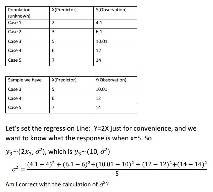 standard deviation for regression - Cross Validated