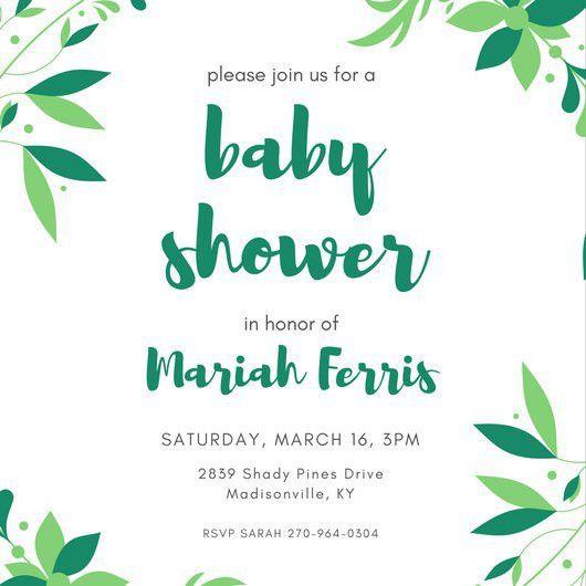 Baby Shower Invitation Templates - Canva