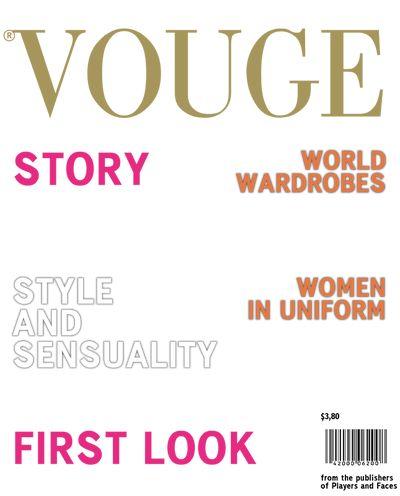 Fashion Magazine Cover Template. Fashion Magazine Cover Magazine ...