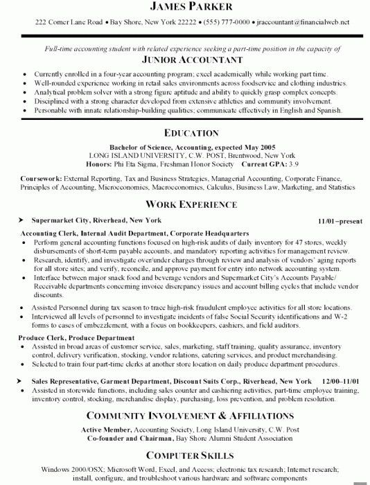 Stylish Sample Resume For Accounting | Resume Format Web
