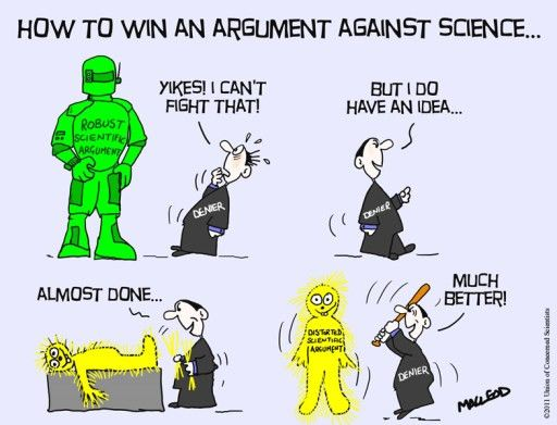 Straw man: crushing concocted canards   Science or not?