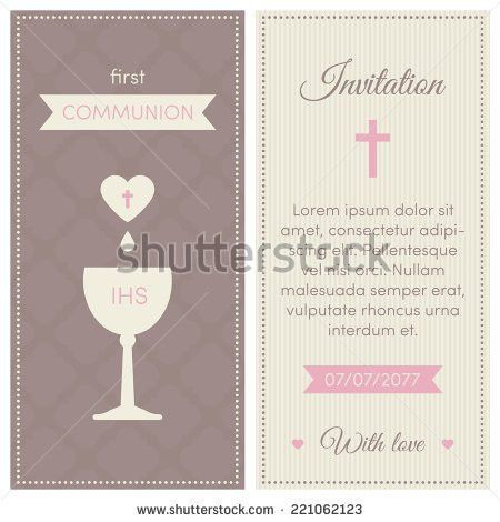 First Communion Invites Stock Images, Royalty-Free Images ...