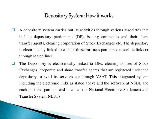 Depository Services